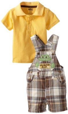 Amazon.com: Little Rebels Baby-Boys Infant 2 Piece Knit Shirt and Shortall: Clothing