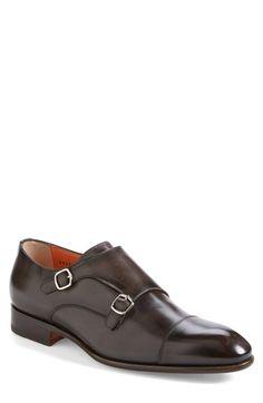 Santoni 'Windsor' Double Monk Strap Shoe (Men) available at #Nordstrom