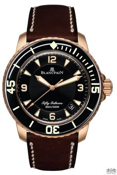 Blancpain 50 Fathoms Automatic Brushed Red Gold Men's Watch 5015A-3630-63B