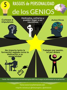 5 rasgos de personalidad de los genios #infografia