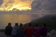Sunset in parangkritis beach