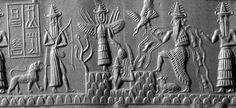 mushushu dragon | statue baked clay plaque showing a mushushu dragon ur from above an ...