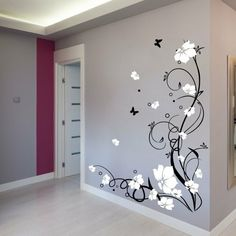 Wall tattoo for hallway - a nice decoration Drawing Room Ceiling Design, Ceiling Design Living Room, Dining Room Design, Wall Painting Decor, Home Wall Decor, Diy Bedroom Decor, Bedroom Wall Designs, Decoration, Wall Decals
