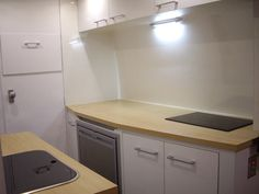 Finished can camper kitchen