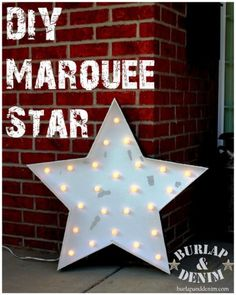 light up marquee star pottery barn knock off