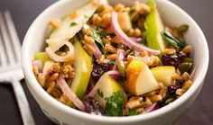 Healthy Fall Farro Salad - vegan, sub agave for honey      http://milesforacure.wordpress.com/