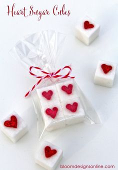 Heart Sugar Cubes