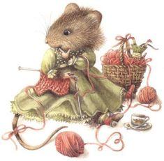 Souris qui tricote