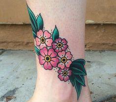 Flower tattoo by @Michelle Rubano at #fullcircletattoo in San Diego, CA.