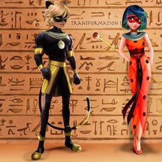 #ladybug #miraculous #catnoir #transformation #miraculousladybug #egypt