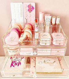 Unicorn Makeup Brushes Set, Makeup Brush Set, Too Faced, Bedroom Decor Grey Pink, Bougie Girl, Kawaii Room, Makeup Rooms, Aesthetic Makeup, Makeup Brands