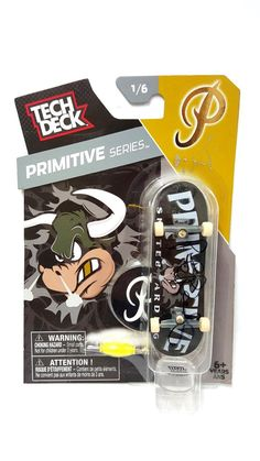 Tech Deck Primitive Series Bull Skateboard 1/6 Signed