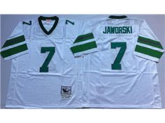 e033c9ea382 Rams Aaron Donald 99 jersey Mitchell And Ness Eagles Ron Jaworski White Throwback  Stitched NFL Jersey