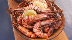 Look at this recipe - BBQ Prawns with Roast Chilli Salsa - from Andy Bates and other tasty dishes on Food Network. Bbq Prawns, Prawns Roast, Prawn Shrimp, Food Network Uk, Food Network Recipes, Fish Dishes, Tasty Dishes, Eating At Night, Fries In The Oven