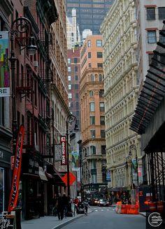 Lower Manhattan aunque no sea un barrio de densa concentración comercial, en él se puede encontrar alguna que otra perla, desde trapitos chic o extravagantes telas retro.