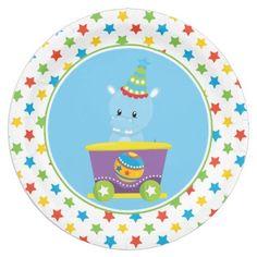 Hippo   Circus Train   Circus Theme Paper Plate