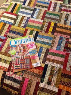 INSPIRED BY ANTIQUE QUILTS: courthouse step scrappy quilt and other scrappy quilt starts!