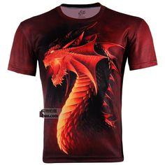 Men's Plus Size 3D T-Shirts...Dragons, Penguins 4x