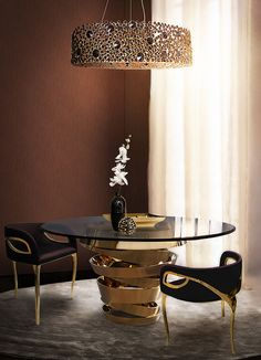 Luxury Dining Tables, Luxury Dining Room, Modern Dining Table, Dining Room Sets, Round Dining Table, Dining Room Design, Dining Room Chairs, Dining Room Furniture, Modern Chairs