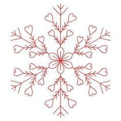 Redwork Snowflakes 1 03(Md) machine embroidery designs