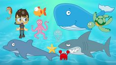 Learn ِAquatic Animals for Kids in Arabic  - تعليم حيوانات البحر للاطفال...