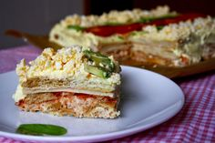 Ideas que mejoran tu vida Salad Recipes, Diet Recipes, Cooking Recipes, Sandwich Cake, Sandwiches, Tuna Cakes, Good Food, Yummy Food, Breakfast Dessert