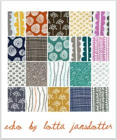 I love the patterns this fabric designer comes up with. I have a print of hers to cover an old bulletin board near my workspace.