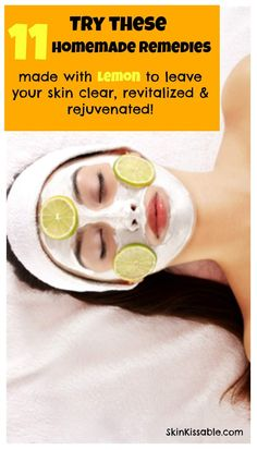 How does lemon help the skin? Discover 11 natural homemade remedies made with lemon to clear acne and dark spots and to lighten and rejuvenate the skin.