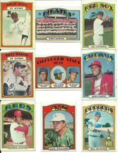 Huge Vintage 1972 Topps 275 + cards lot great filler set! range #s 1-655 No Dups #NewYorkYankees