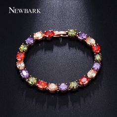 NEWBARK Bohemian Multicolor CZ Bracelet Rose Gold Plated 2 Length Choice Bracelets For Women Snap Jewelry     Tag a friend who would love this!     FREE Shipping Worldwide     Buy one here---> http://jewelry-steals.com/products/newbark-bohemian-multicolor-cz-bracelet-rose-gold-plated-2-length-choice-bracelets-for-women-snap-jewelry/    #earrings