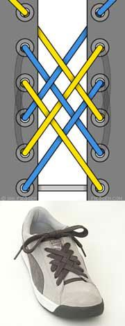 Как оригинально завязать шнурки