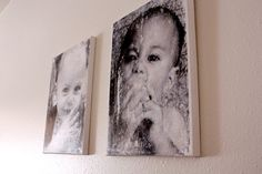 Very cool easy way to make DIY canvas prints. Making about 15 of these for Christmas gifts.