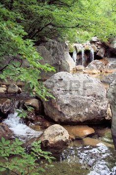 mountain river in national park paklenica, Croatia