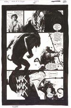 Art from Hellboy: The Wolves of St. August by Mike Mignola.  Loved this one.