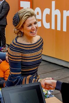 27/04/2017 Koningsdag 2017 Beautiful queen Máxima in Tilburg