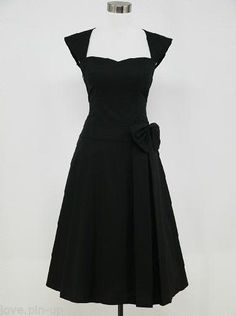 ROBE NOIRE ROCKABILLY / VINTAGE - STYLE PIN UP - 1950  - Tailles 36 AU 52