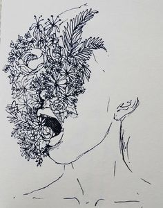 art, flowers, and drawing Bild