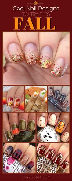 Cool nail designs for fall - Nail Art Designs Fingernail Designs, Nail Polish Designs, Nails Design, Seasonal Nails, Holiday Nails, Fancy Nails, Diy Nails, Neon Nails, Gorgeous Nails