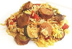 Weight Watchers Chicken Sausage Paella. 7pts+ for 1 1/2 cup serving