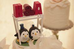 penguins Wedding Cake Topper-love Penguins #cute #penguin #oceanwedding #greenwedding #gardenwedding #initials #wordswedding # #handmadecaketopper #custom #animals #bride #groom #wooden #arch #ペンギン #manchot #펭귄 #pingüino #pinguino #weddingcake #kikuikestudio