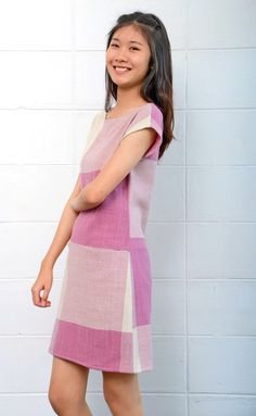 Image of Handwoven and natural dye cotton Aornjira dress