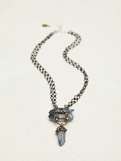 Free People Stacked Crystal Pendant