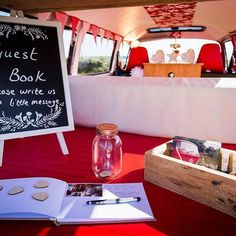 A guest book in the boot!? What a fab idea!! #vwphotobooth @thelittleredbusuk #photobooth #photobus #availabletohire #southwest #weddings #parties  and #event #hire #notjustaphotobooth #vehiclehire #vw❤️ www.thelittleredbus.co.uk #weddingday #weddingfun #weddingideas #weddinginspiration #devon