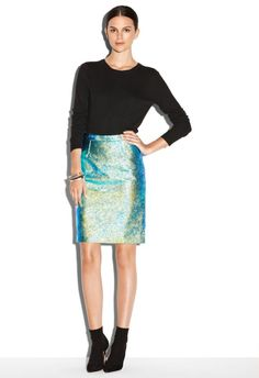 #millyny.com              #Skirt                    #HOLOGRAM #LEATHER #EDITH #PENCIL #SKIRT            HOLOGRAM LEATHER EDITH PENCIL SKIRT                                           http://www.seapai.com/product.aspx?PID=254782