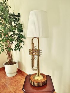 Trumpet lamp by MusicLampsArt on Etsy