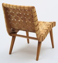 "Low Lounge Chair (model 650)      			 Jens Risom (American, born Denmark 1916)      			   	              	              	         	1941. Maple and leather, 36 x 11 x 20"" (91.4 x 27.9 x 50.8 cm). Manufactured by Knoll Associates, New York, NY"