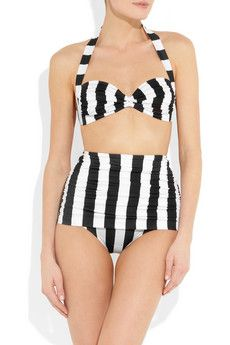 Norma Kamali Bill high-waisted bikini I want a high waisted bikini!!!! I need this