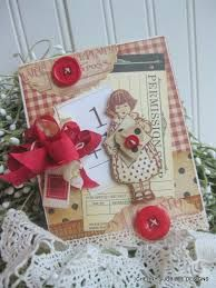 Image result for handmade cards using vintage flashcards