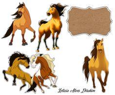 Haras do Davi Horse Birthday, Girl Birthday, Caballo Spirit, Spirit The Horse, Edible Printing, Work Family, Horse Crafts, Printable Stickers, Disney Love