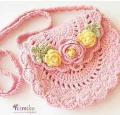 New Crochet Bag Pattern Free Easy Coin Purses Ideas Crochet Girls, Cute Crochet, Easy Crochet, Crochet Baby, Knit Crochet, Crochet Handbags, Crochet Purses, Crochet Doilies, Crochet Shell Stitch